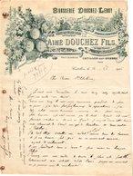 1 Faktuur Brasserie Douchez-Leroy Aimé Douchez Fils Catillon-sur-Sambre C1906 Hop Houblons Rameaux - Levensmiddelen