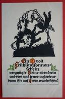 SILHOUETTE POSTCARD , NR.84 VERLAG WERNER KLOTZ - ZITTAU , ANGELS - Siluette