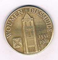 50 WOUDEN   1981 DIKSMUIDE BELGIE /2672/ - Belgique