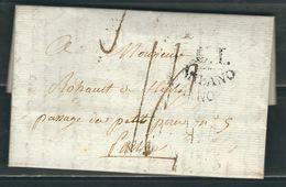 ITALIE 1804 Marque Postale Taxée écrite à Carpi  Milan Pour Paris - 1. ...-1850 Prephilately