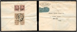 China - XX. C.1948. Shanghai - USA. Air Multifkd Env Incl Bloock Of Four + Ovptd Pair With Margin Printers Inscription. - China
