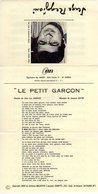 SERGE REGGIANI - LE PETIT GARCON - 1968 - J.L.DABADIE / JACQUES DATIN - EXCELLENT ETAT COMME NEUVE - - Autres
