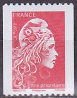 Timbre Neuf ** N° 5256(Yvert) France 2018 - Marianne L'Engagée Roulette, N° Noir Au Verso - 2018-... Marianne L'Engagée