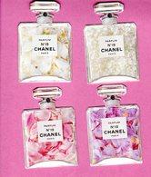 CARTE PARFUMEE CHANEL - JEU DE 4 CARTES PARFUM CHANEL N° 19 - EXCELLENT ETAT - Cartes Parfumées