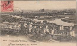 DAV : Moselle  :  METZ    Vue  (  Timbre  Allemand) - Metz