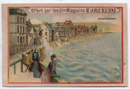 Arromanches (14 Calvados), Image Magasins Ville St Denis  Horaire 1893 Des Trains Au Verso (PPP17859) - Chromos