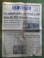 24 H Du Mans 1955.Catastrophe,plus De 160 Victimes.Breil-sur-Merize,accident De La Route. - 1950 à Nos Jours