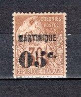 MARTINIQUE N° 12   NEUF AVEC CHARNIERE  COTE 45.00€   TYPE ALPHEE DUBOIS - Martinica (1886-1947)