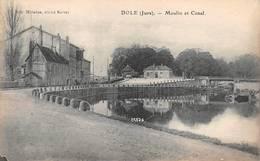 Dole Karrer Moulin Et Canal Cliché A 6873 - Dole
