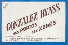 37 - LA MEMBROLLE/CHOISILLE - BUVARD - SOCIÉTÉ DES VINS FINS - GONZALEZ BYASS - PORTOS - XÉRÈS... - Food