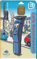CARTE A PUCE CHIP CARD MONEO CARTE STATIONNEMENT VILLE NANTES  TRACES USAGE MAIS TTB - Frankrijk