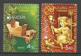 Ukraine   2015   Mi.Nr. 1487 / 1488 , EUROPA CEPT - Historisches Spielzeug - Gestempelt / Used / (o) - 2015