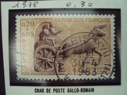 """60-69- Timbre Oblitéré N°   1378 """"    Char De Poste Gallo-romain """"  0.30 - Used Stamps"""