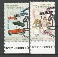 Türkisch-Zypern   2015   Mi.Nr. 810 / 811 A , EUROPA CEPT - Historisches Spielzeug - Gestempelt / Used / (o) - 2015
