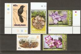 Bahamas 1980/2007 - Petit Lot De 5 MNH - Noël - Fleurs - Oiseau - Smooth Billed Ani - Ani à Bec Lisse - 2 CDF - Vrac (max 999 Timbres)