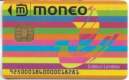 CARTE A PUCE CHIP CARD MONEO CARTE STATIONNEMENT VILLE PARIS TRACES USAGE MAIS TB VERSO CRÉDIT LYONNAIS - France