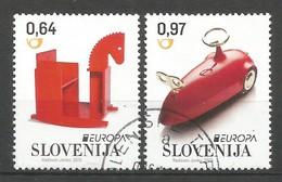 Slovenija / Slowenien  2015   Mi.Nr. 1154 / 1155 , EUROPA CEPT - Historisches Spielzeug - Gestempelt / Used / (o) - Europa-CEPT