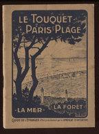 Le Touquet Paris Plage Guide Syndicat D'Initiative 1924 Port France 1,72€ - Livres, BD, Revues
