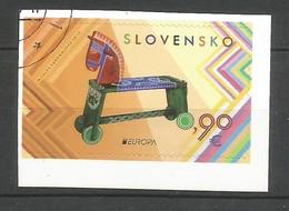 Slovensko / Slowakei  2015   Mi.Nr. 764 , EUROPA CEPT - Historisches Spielzeug - Selbstklebend - Gestempelt / Used / (o) - Europa-CEPT