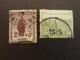 FRANCE, Année 1917-18, YT N° 148 Et 150 Oblitérés (cote 28.60 EUR) - Oblitérés