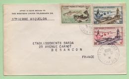 SAINT-PIERRE-ET-MIQUELON - ENVELOPPE  16/6/1958  - - Covers & Documents