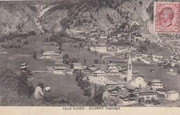 OLLOMONT-AOSTA-CAPOLUOGO--CARTOLINA VIAGGIATA IL 3-8-1911 - Aosta