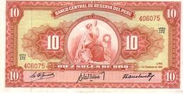 Peru P.82   10 Soles 1961 Xf+ - Perù