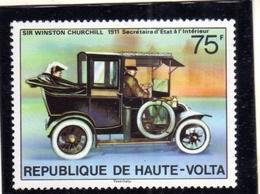 ALTO VOLTA HAUTE VOLTA UPPER VOLTA BURKINA FASO 1977 WINSTON CHURCHILL CAR 75fr  MNH - Alto Volta (1958-1984)