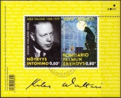 Finland 2008 Blok Mika Waltari GB-USED - Oblitérés