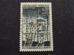 """60-69- Timbre Oblitéré N° 1407   """" Camp De Déportation    """"  0.45 - Oblitérés"""