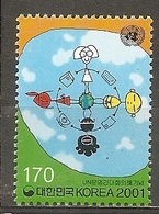 Korea-Russia. Scott # 2064,6667 MNH. Dialogue Among Civilization. Joint Issue Of 2001 - Joint Issues