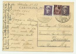 CARTOLINA POSTALE F.BOLLO LIRE 2 + 2 DA 50 CENTESIMI  1946 FG - Usati