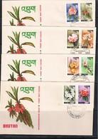 Bhutan 1976 Flowers FDC - Autres
