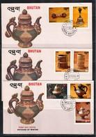 Bhutan 1979 Antiques Of Bhutan FDC - Bhoutan