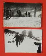 66 Formiguères 1942-1943 RARE Lot 2 Carte-photos Chantiers De Jeunesse Groupement 29 Bugeaud Capcir Ed Chauvin Perpignan - France