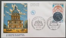 FDC 1974 - YT N°1801 - HOTEL DES INVALIDES - PARIS - 1970-1979