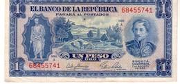 Colombia P.438 1 Peso 1953  Au+ - Colombia