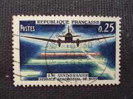 """60-69- Timbre Oblitéré N°  1418  """" 25 ème Anniversaire Aeropostale    """"  0.30 - Oblitérés"""