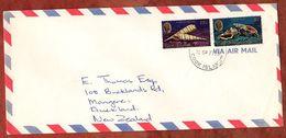 Luftpost, MiF Meeresschnecken, Rarotonga Nach Auckland 1977 (71242) - Cookinseln