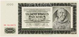 Bohemia & Moravia 1000 Korun 1942, SPECIMEN UNC - Tsjechoslowakije