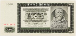 Bohemia & Moravia 1000 Korun 1942, SPECIMEN UNC - Czechoslovakia