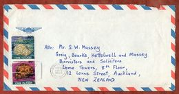 Luftpost, MiF Nesseltiere, Avarua Nach Auckland 1986 (71244) - Cookinseln