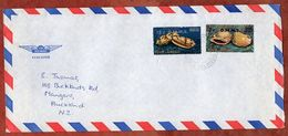 Luftpost, Dienstbrief, MiF Meeresschnecken Mit Aufdruck OHMS, Rarotonga Nach Auckland 1979? (71245) - Cookinseln
