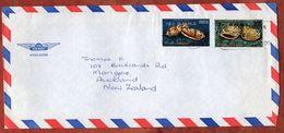 Luftpost, Dienstbrief, MiF Meeresschnecken Mit Aufdruck OHMS, Avarua Nach Auckland 1979 (71246) - Cookinseln