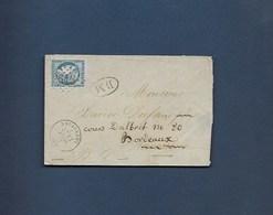 20c Ceres Sur Enveloppe Cachet N° 2613  Cachet A Date De Navarrenx  + Cachet Ovale BM - 1870 Bordeaux Printing