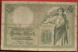 10 Mark 1906 (WPM 9) 6.10.1906 Reichskassenschein - [ 2] 1871-1918 : Duitse Rijk