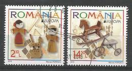 Romania / Rumänien  2015  Mi.Nr. 6950 / 6951 , EUROPA CEPT - Historisches Spielzeug - Gestempelt / Used / (o) - Europa-CEPT