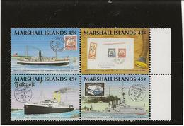 ILES MARSHALL - N° 233 A 236 EN BLOC DE 4 -NEUF SANS CHARNIERE - ANNEE 1989 - Marshalleilanden