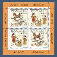 Romania/Rumänien 2015  Mi.Nr. Block 624 II (6950/6951) , EUROPA CEPT - Historisches Spielzeug - Gestempelt / Used / (o) - Europa-CEPT