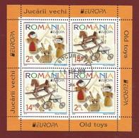 Romania / Rumänien 2015  Mi.Nr. Block 624 I (6950/6951) , EUROPA CEPT - Historisches Spielzeug - Gestempelt / Used / (o) - 2015